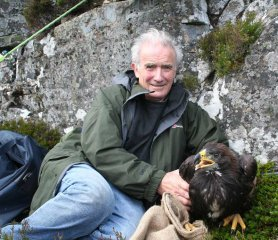 Roy Dennis Ringing Alma two years ago in the Highland's of Scotland